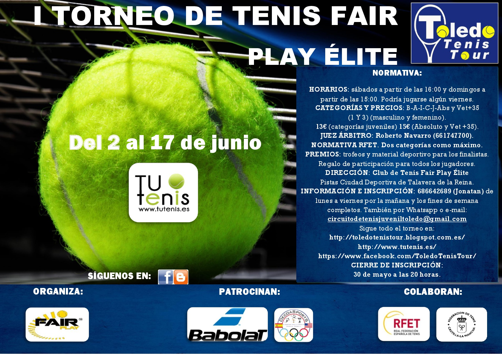 Cartel Torneo Fair Play Élite